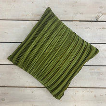 Load image into Gallery viewer, Shiny Pleated Green Cushion Complete