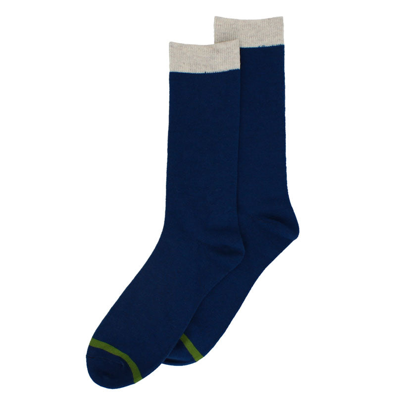 Hector Men's Two Tone Socks Blue