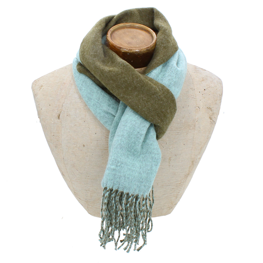 Hector Mens Scarf - Green / Turquois