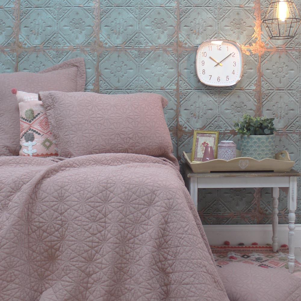 Stonewash Cotton Blush Bedspread