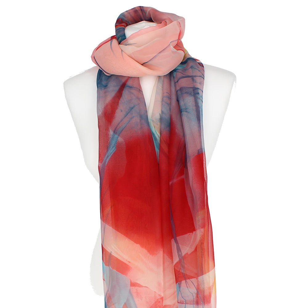 Georgette Red Scarf