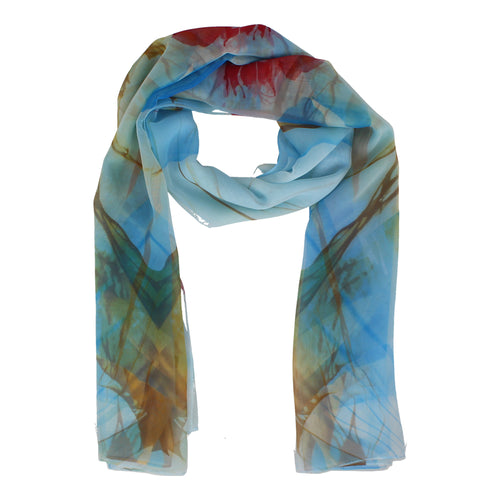 Georgette Blue Scarf
