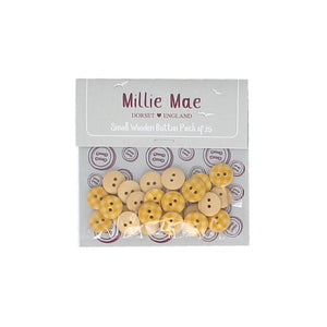 Small Yellow Check Button Pack of 25
