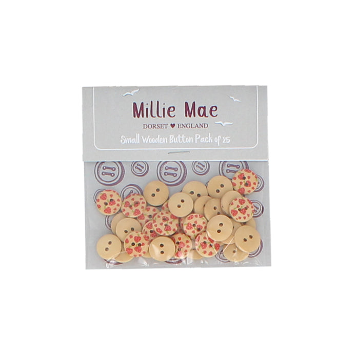 Small Strawberry Button Pack of 25