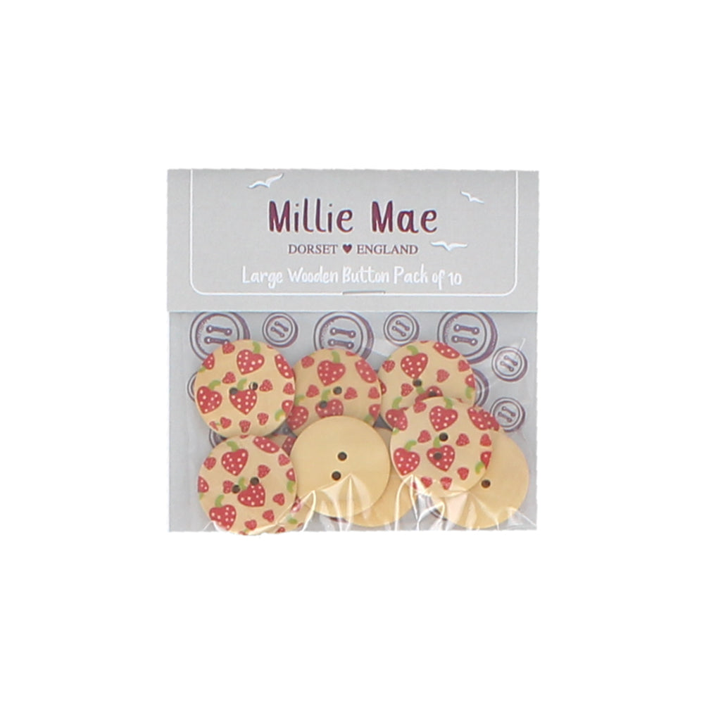 Large Strawberry Button Pack of 10