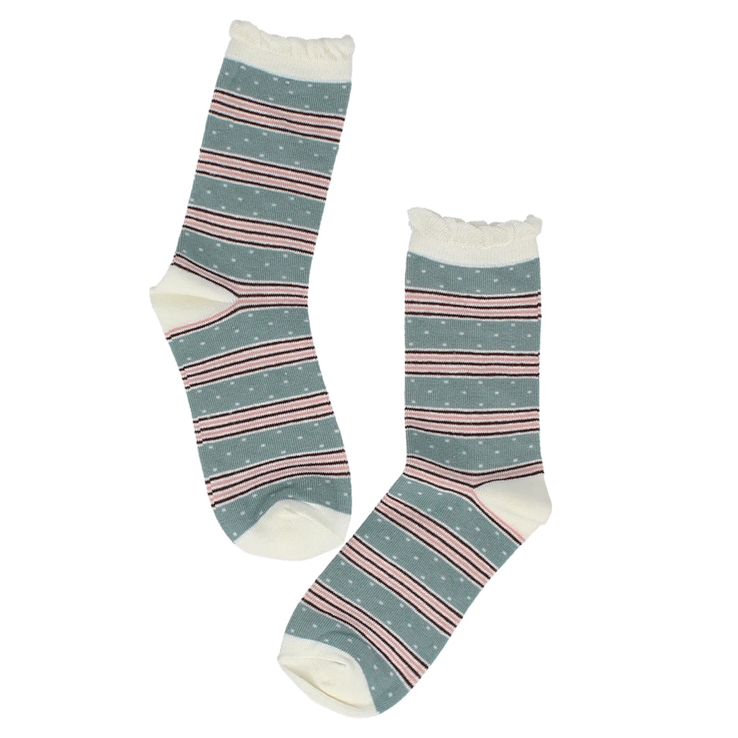 Candy Stripe / Dot Socks
