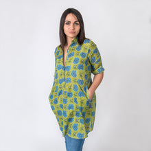 Load image into Gallery viewer, Peony Green Tunic