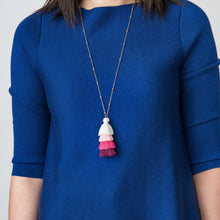 Load image into Gallery viewer, Pink Tassle Necklace