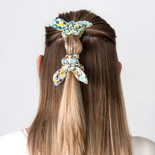 Load image into Gallery viewer, Hair Scrunchie Bow Green