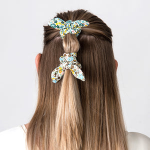 Hair Scrunchie Bow Ochra Mix