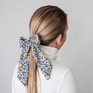 Hair Scrunchie Ponytail Navy