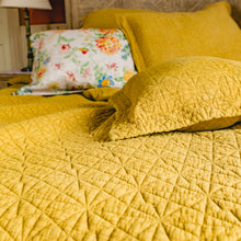 Load image into Gallery viewer, Stonewash Cotton Ochre Bedspread