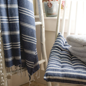 Hamman Stripe Throw Blue