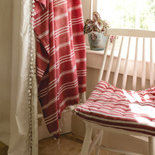 Load image into Gallery viewer, Hamman Stripe Throw Red