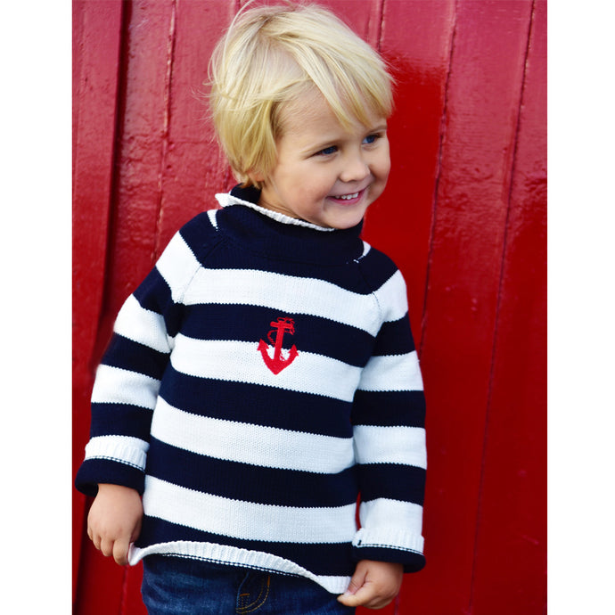 Striped Anchor Jumper