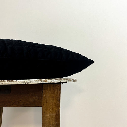 Black Velvet Cushion Complete