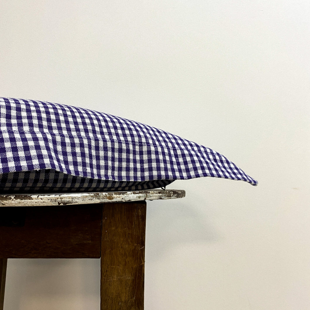 Cotton Check Purple Cushion Complete