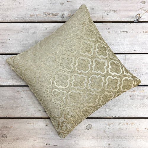 Gold Crushed Velvet Cushion Complete