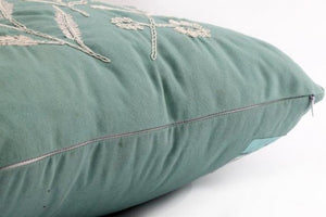 Olive Grove Embroidered Cushion