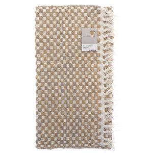 Checked Recycled Rug Beige