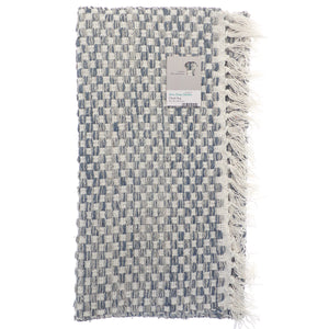 Checked Recycled Rug Grey
