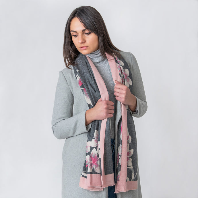 Amy Ladies Wrap Grey