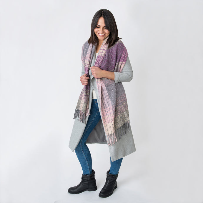 Imogen Boucle Wrap Purple