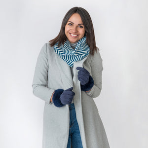 Sadie Zebra Print Navy Snood
