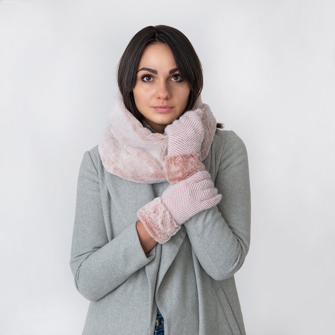 Millie Two Tone Rose Snood