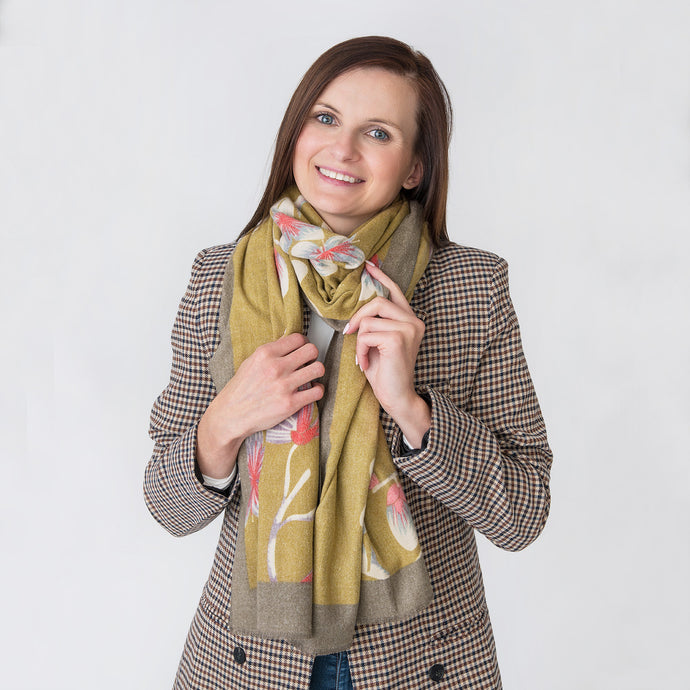Amy Ladies Wrap Ochre