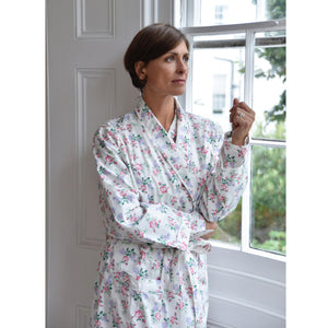 Bella Rose Floral Ladies Dressing Gown
