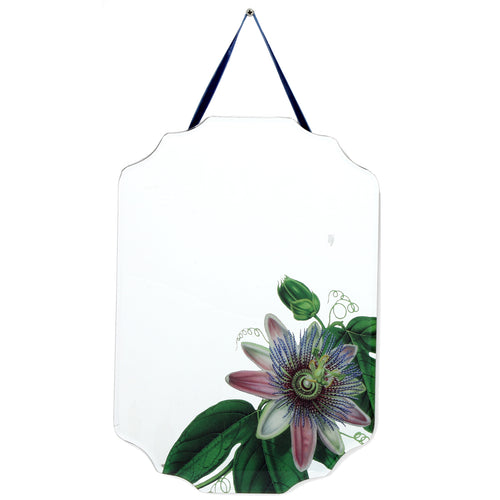 Botanical Hanging Mirror Blue