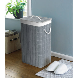 Eco Friendly Design Natural Bamboo Laundry Hamper Rectangular