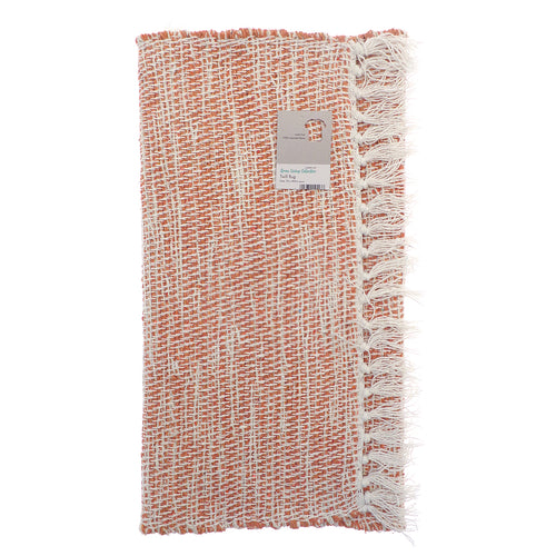 Twill Design Rugs made from Recycled Fabrics - Coral