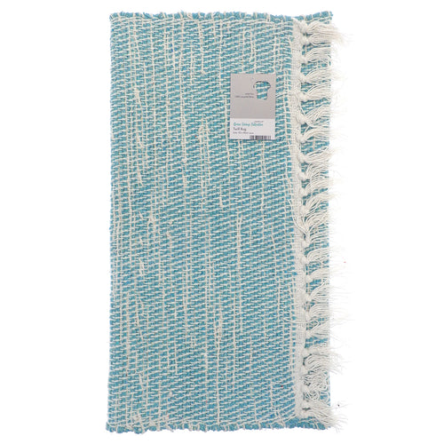 Twill Design Rugs made from Recycled Fabrics - Teal