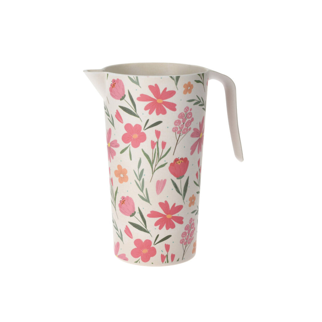 Floral Bamboo Pitcher