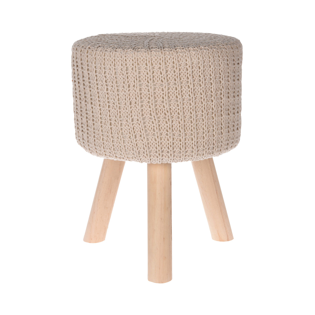 Stool with Knitted Top