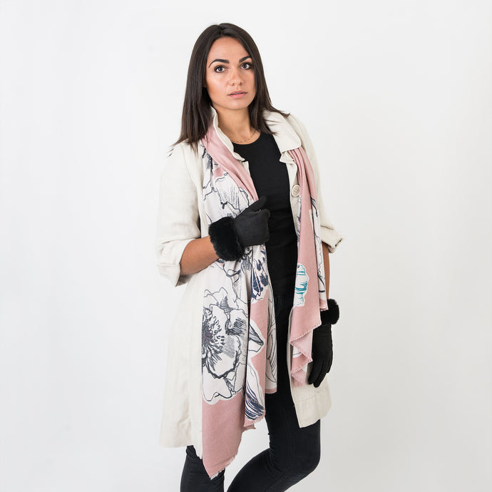 Rosie Ladies Wrap Pale Pink