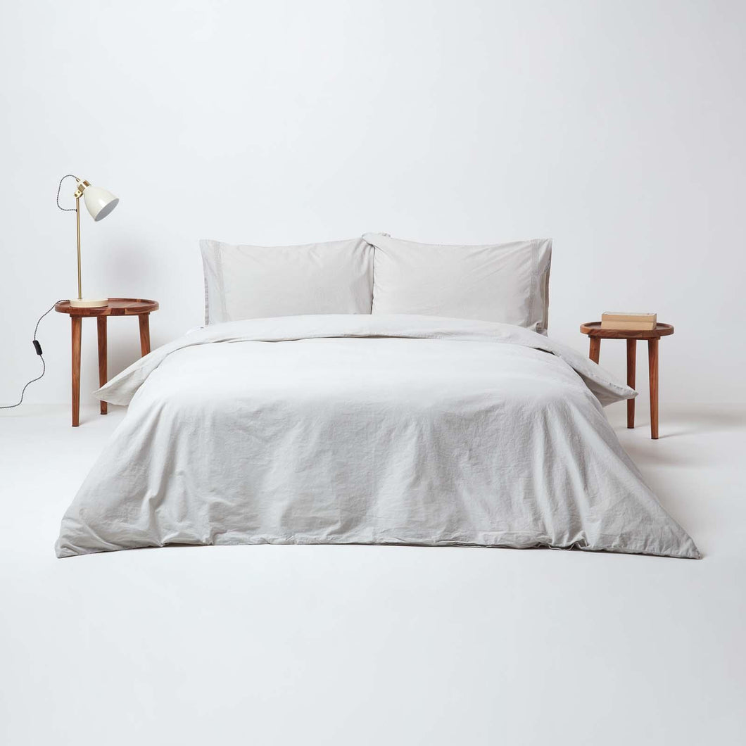 Stonewashed Beige Duvet Cover Set