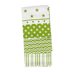 Set of 3 Kitchen Towels Green