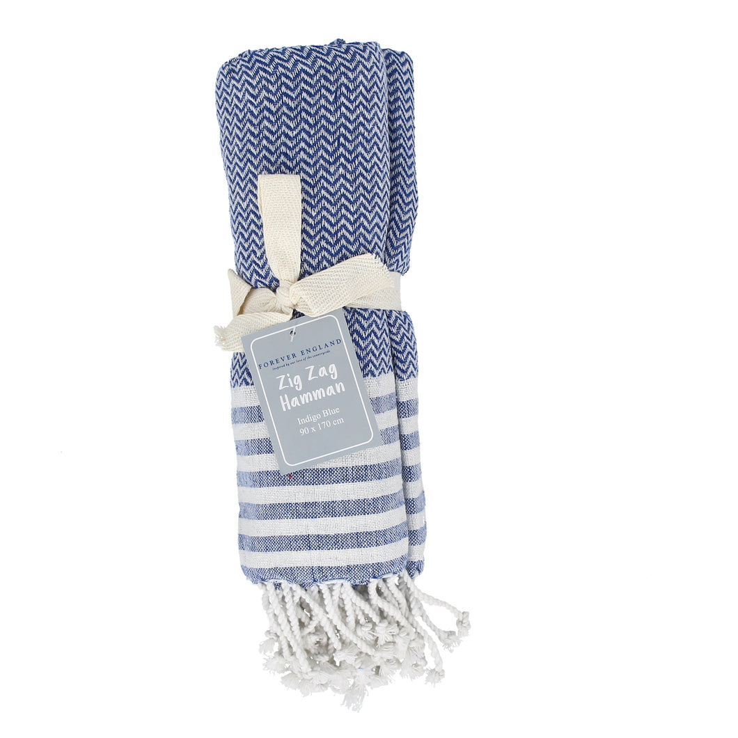 Hamman Zig Zag Throw Blue