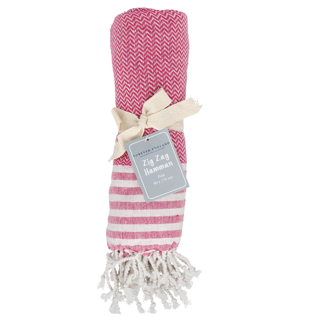 Hamman Zig Zag Throw Pink