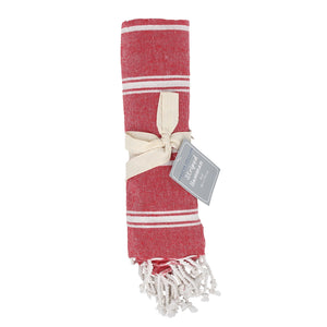 Hamman Stripe Throw Red