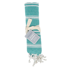 Hamman Stripe Throw Bottle Green