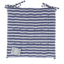 Load image into Gallery viewer, Stripe Seat Cushion Blue