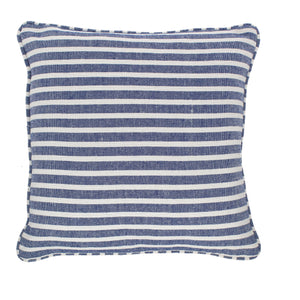 Stripe Cushion Complete Royal Blue