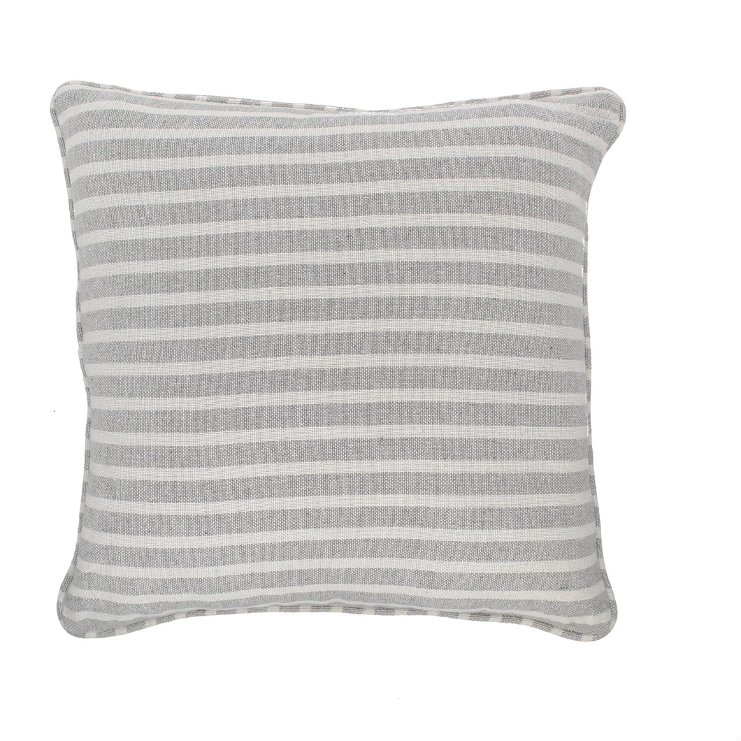 Stripe Cushion Complete Silver