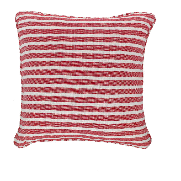 Stripe Cushion Complete Red