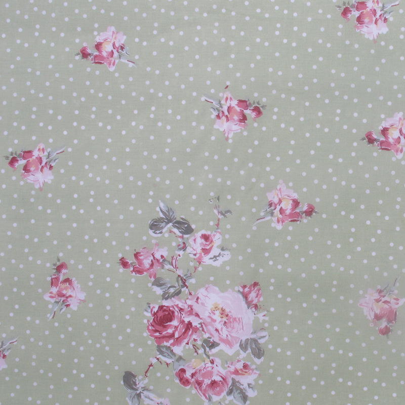 Emily Dotty Rose Fabric by the Metre