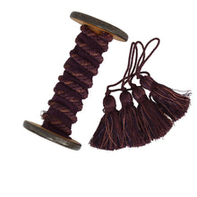 Load image into Gallery viewer, Braid - Plum / Gold by the Metre